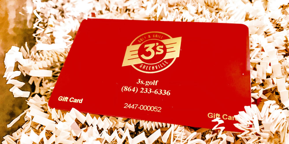 3's Greenville Golf & Grill Gift Cards